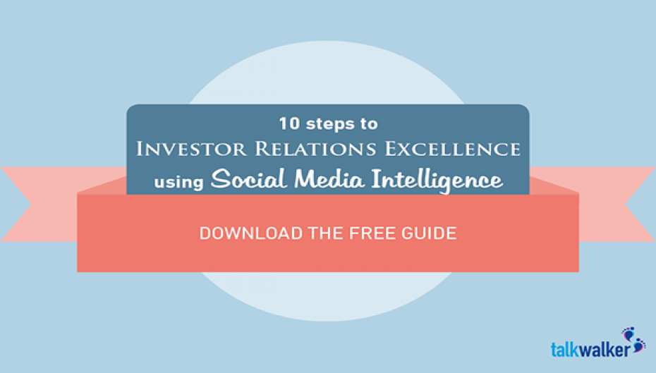Reach Investor Relations Excellence using Social Media Intelligence