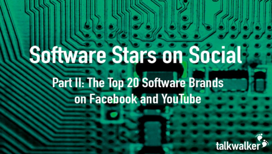 Software Stars on Social: The Top 20 Software Brands on Facebook & Youtube - Part 2