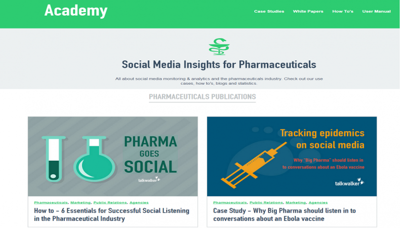 Talkwalker Academy: Social Media Monitoring for the Pharma Industry