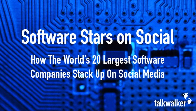Software Stars on Social: Learning From The World's 20 Largest Software Companies (With Infographic)