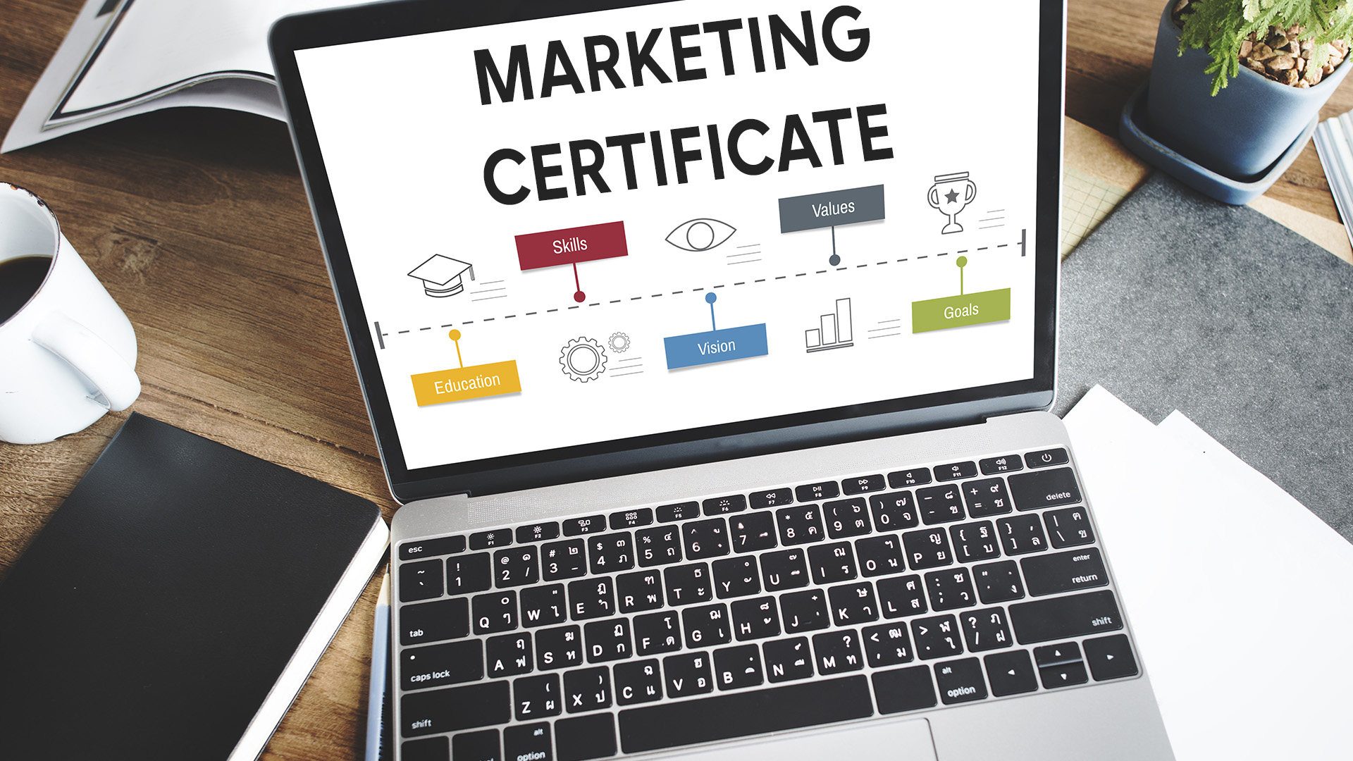 Digital marketing certificates earned online