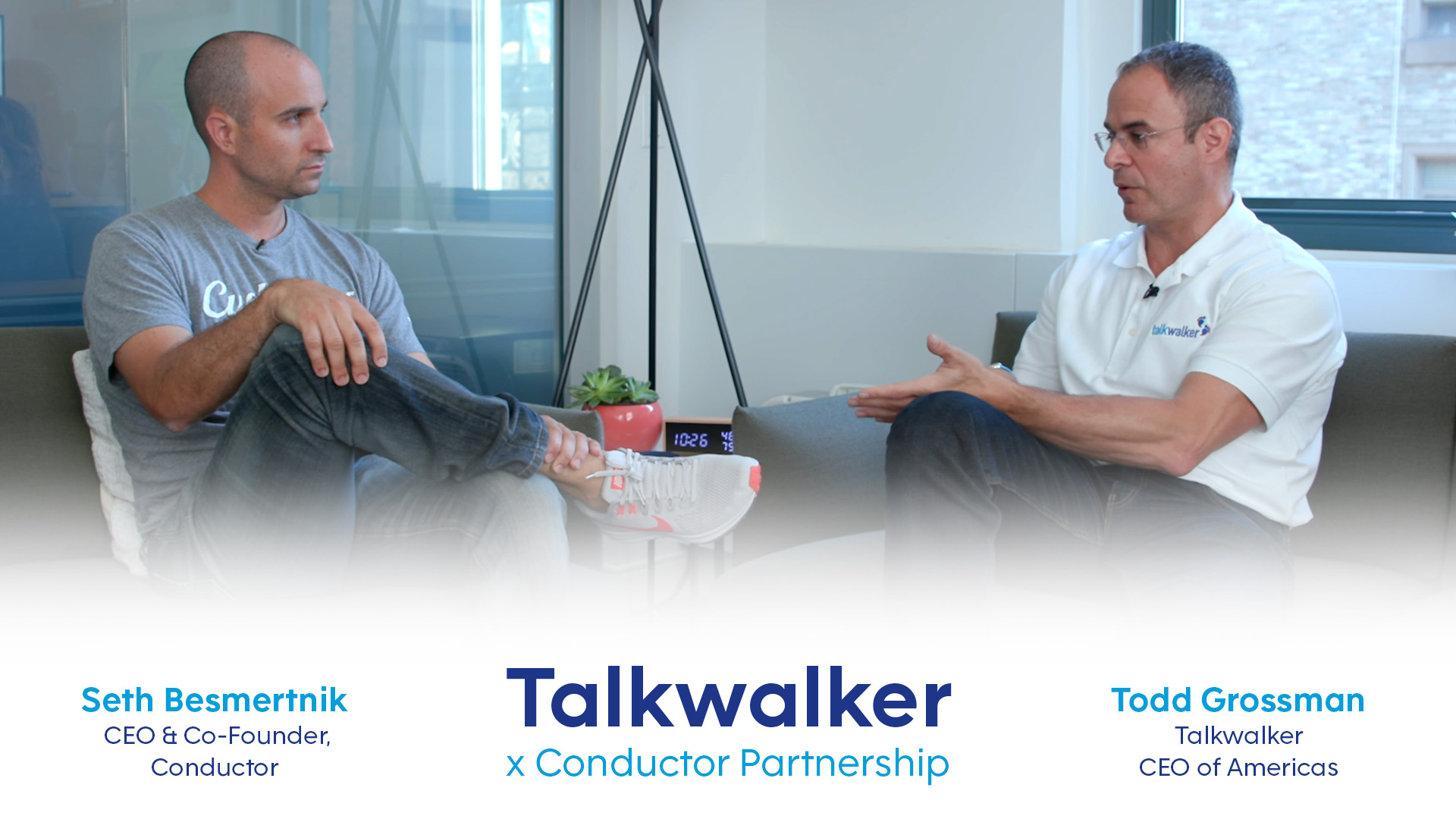 Video Interview & transcript of an interview between the CEOs of Talkwalker & Conductor regarding the partnership between the two companies (search + social data)