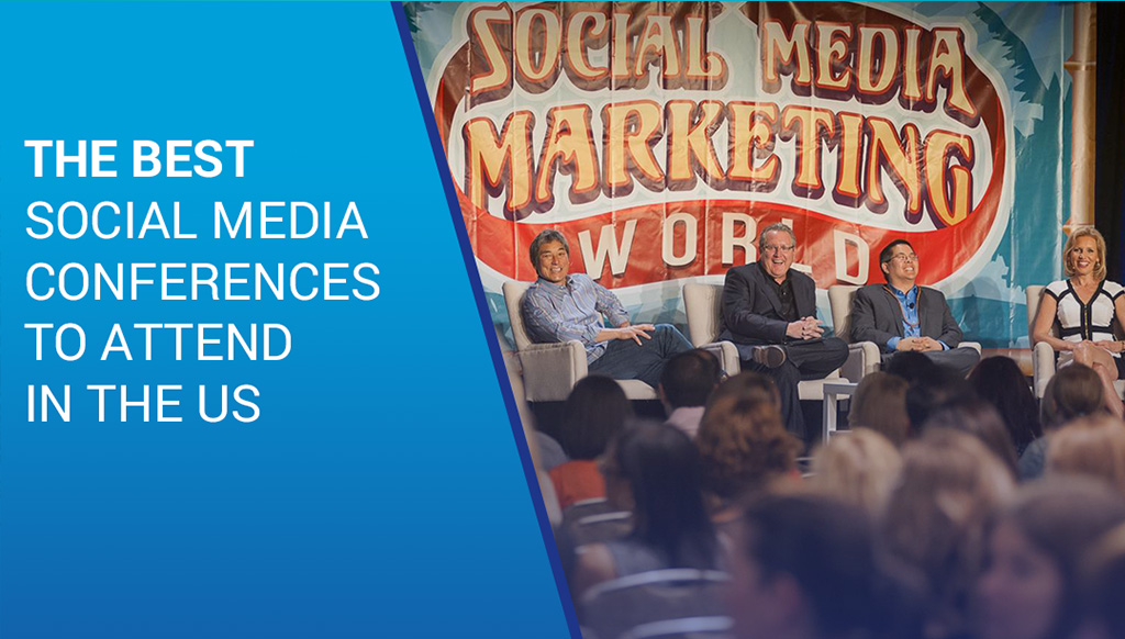 Christopher Penn, Mari Smith at Social Media Marketing World in San Diego