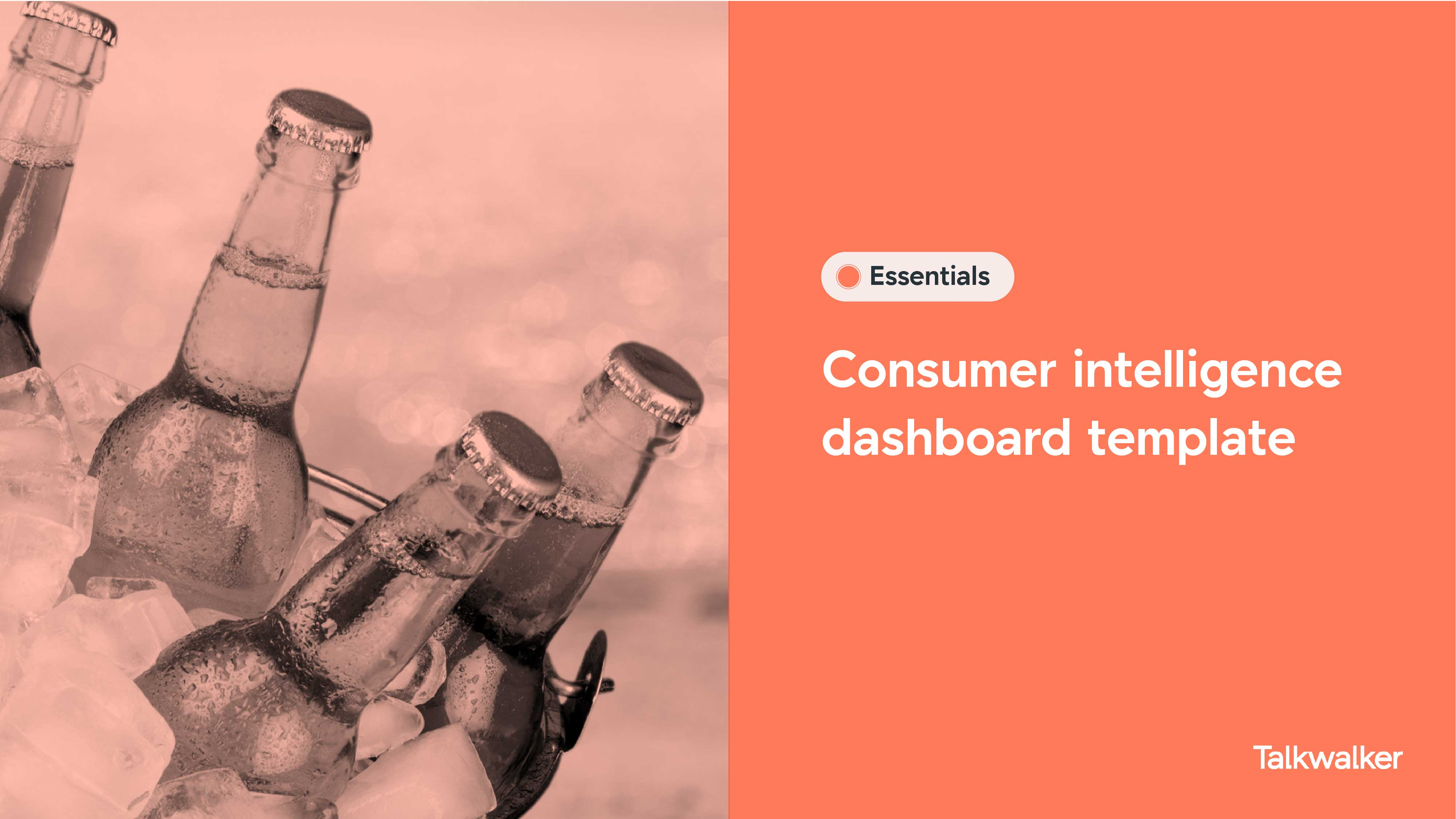 Consumer intelligence dashboard template of soda industry - image of bottles in ice bucket