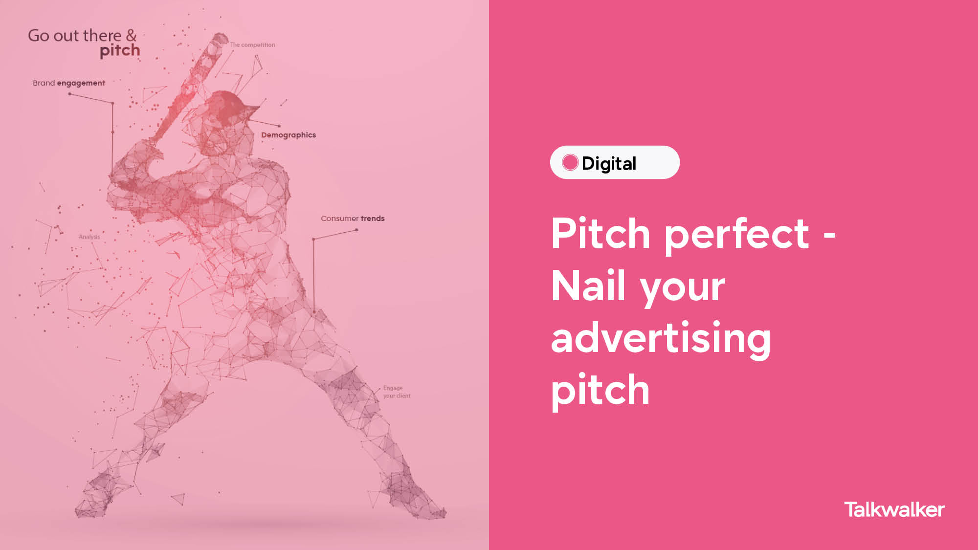 Perfect pitch - Nail your advertising pitch: baseball player batting