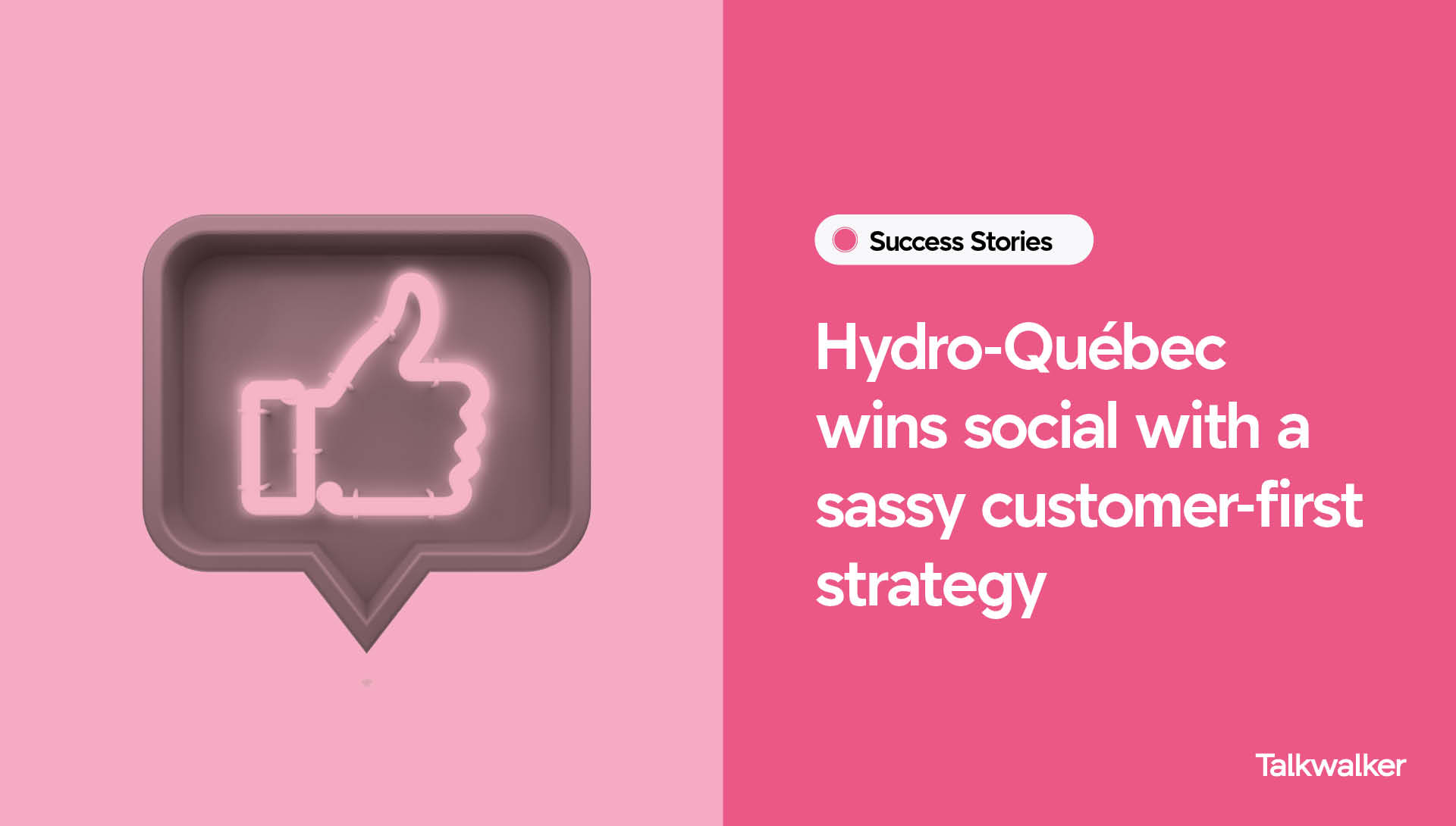 How a public utility wins big with a sassy social strategy, thumbs up sign