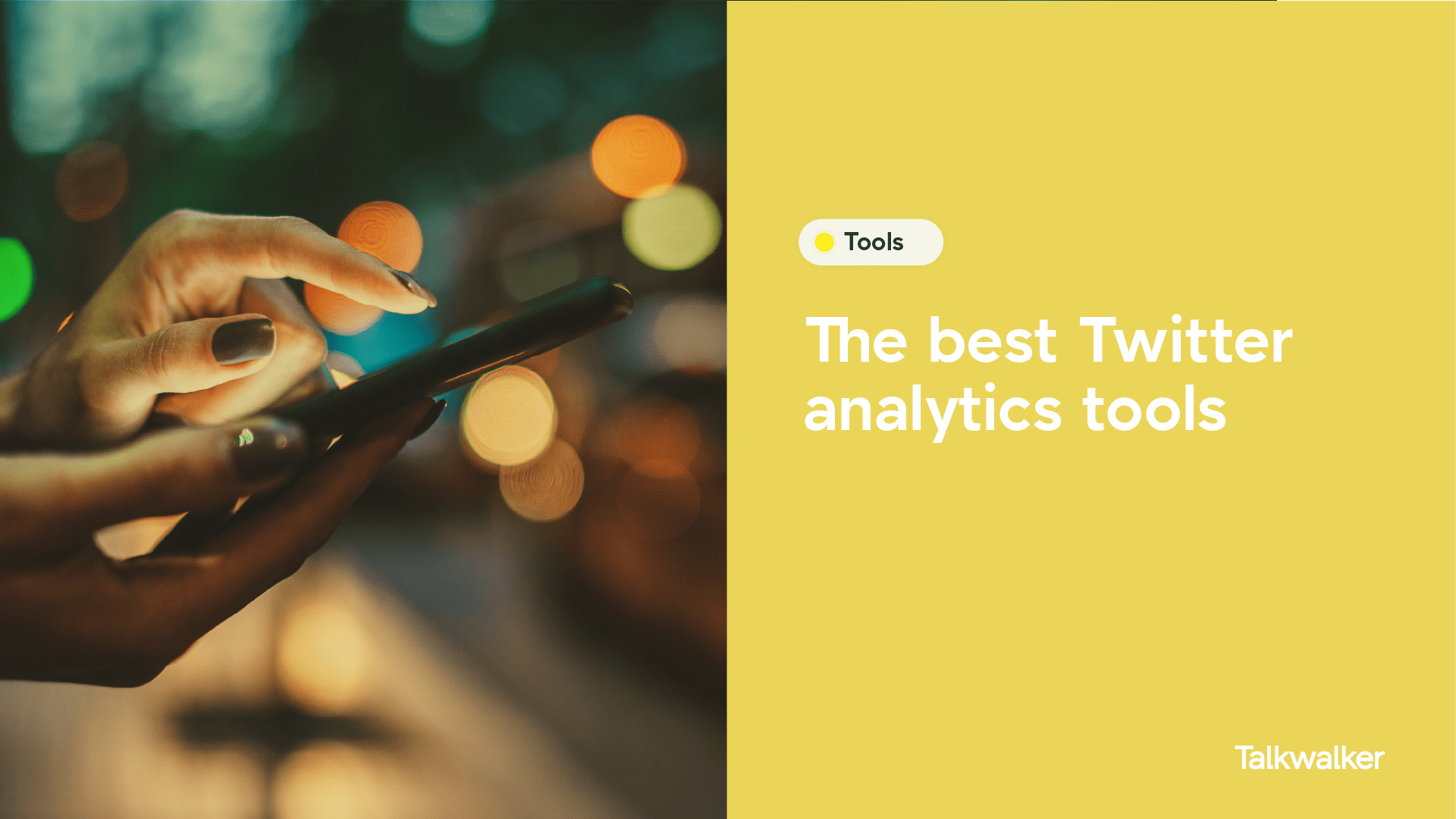 Free Twitter analytics tools - with views from experts - Hand using a smartphone