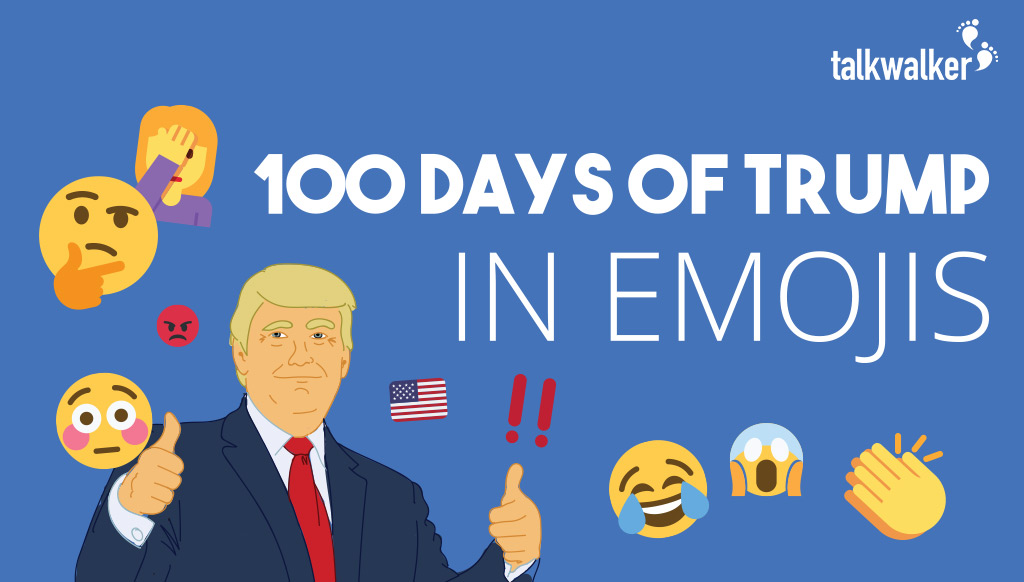 [Infographic] The Emoji History of Trump's First 100 Days