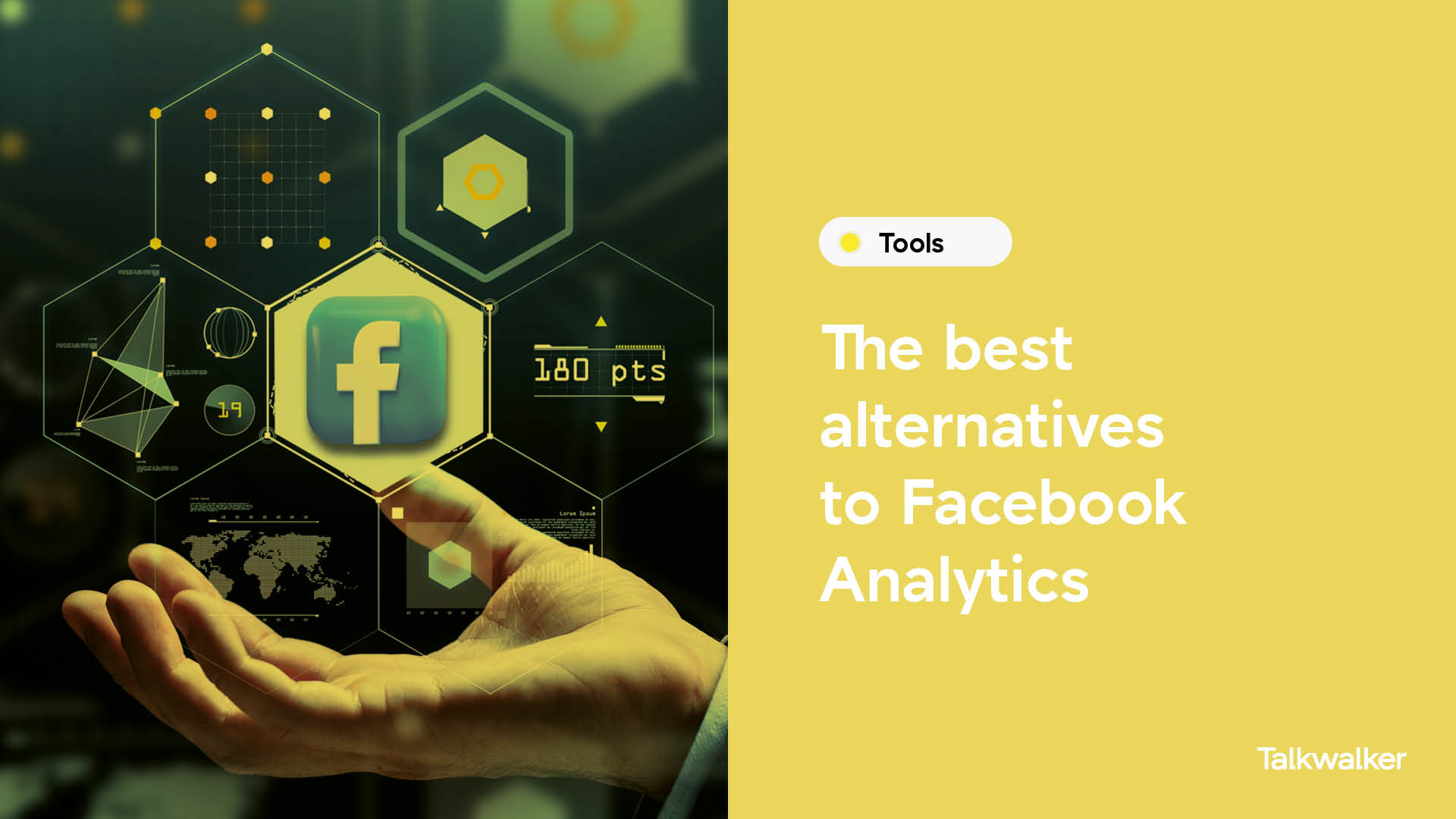 Facebook Analytics alternatives - a hand holding a Facebook logo
