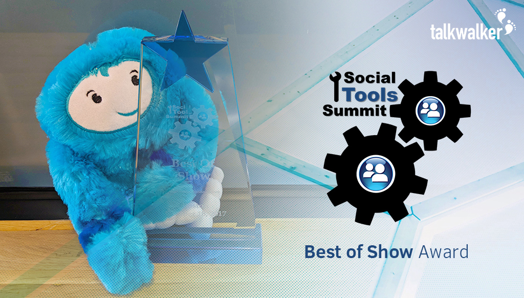 Best of Show award at Social Tools Summit