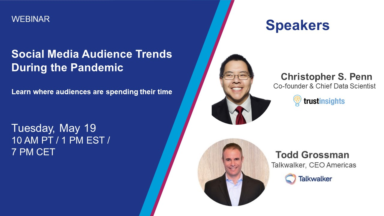 Speakers for the Social Media audience trends webinar