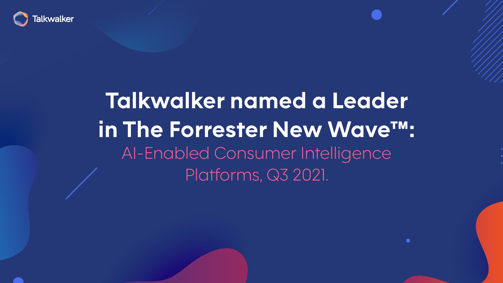 The Forrester New Wave™: AI-Enabled Consumer Intelligence Platforms