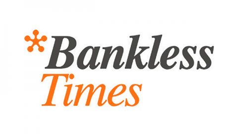 The Bankless Times financial magazine and website logo is shown in black and orange text against a white background.