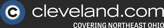 """The Cleveland.com logo """"covering Northeast Ohio"""" is shown in white text against a black background."""