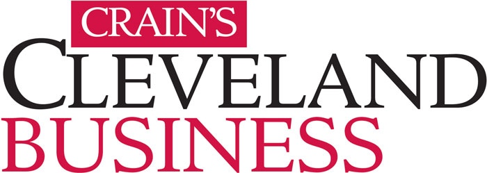 The Crain's Cleveland Business logo is shown against a white background