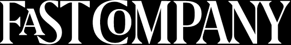 The Fast Company magazine logo is shown in white text against a black background
