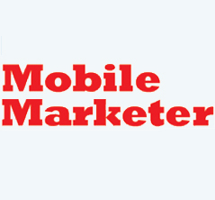 Mobile marketer's logo is shown in red against a white background