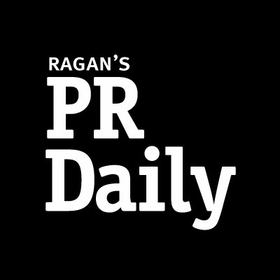 Ragan's PR Daily logo is shown in white text against a black background