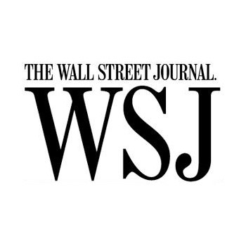 Wall Street Journal's logo is depicted in black text on a white background