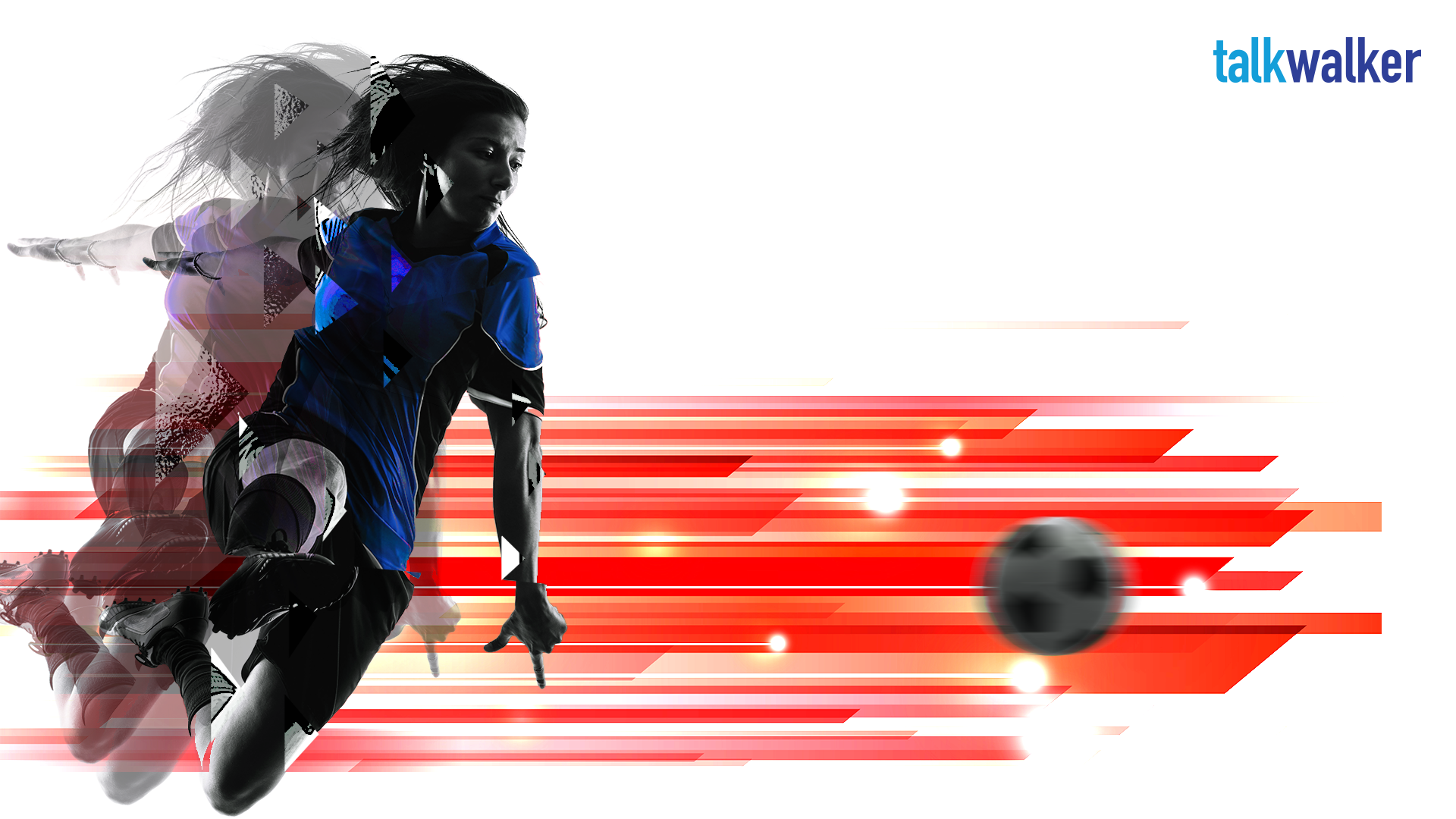 Depiction of a women's soccer player at the FIFA world cup with a social data twist