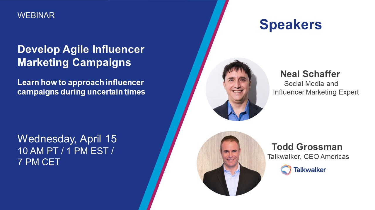 Neal Schaffer on Agile Influencer Marketing Campaigns