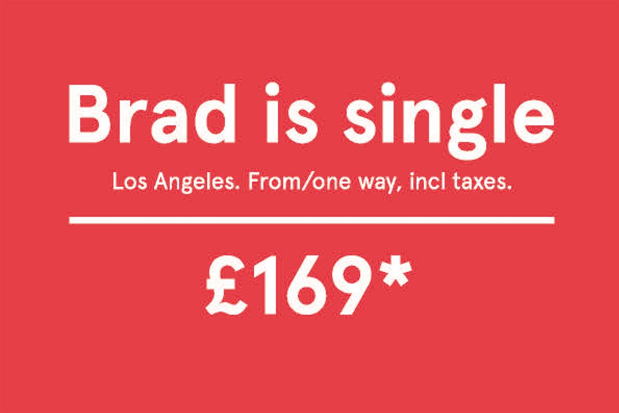 Norwegian airlines brad is single advert