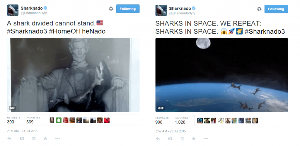 tweets on sharnado 3