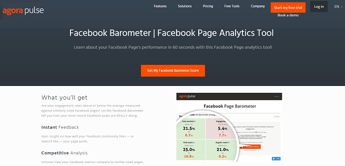 social media analytics tools - Agorapulse