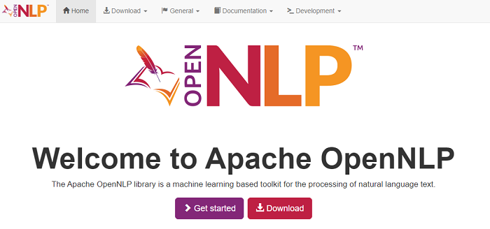 Apache OpenNLP machine learning toolkit