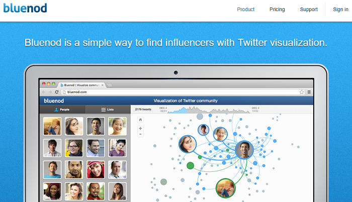 Twitter analytics tools - Bluenod