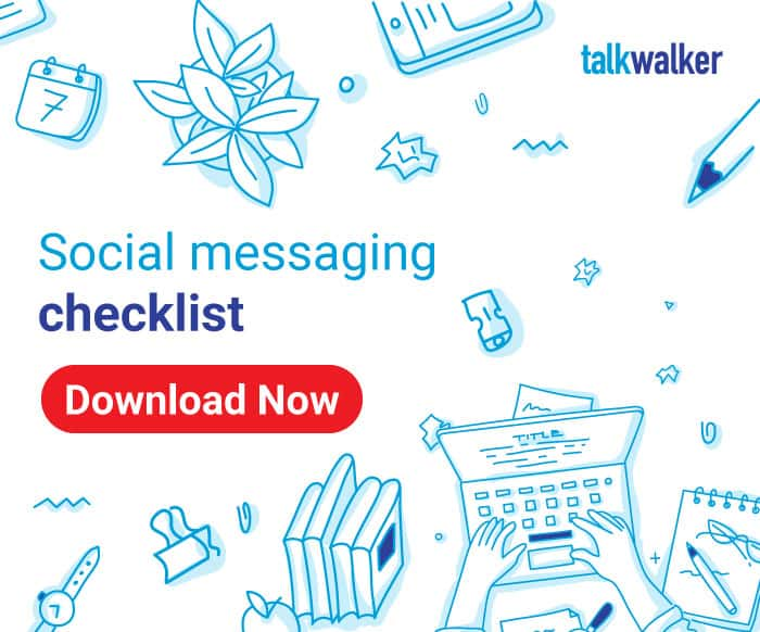 Social media messaging checklist download