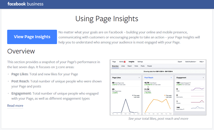 social media analytics tools - facebook insights
