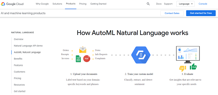 Google Cloud NLP extract consumer insights