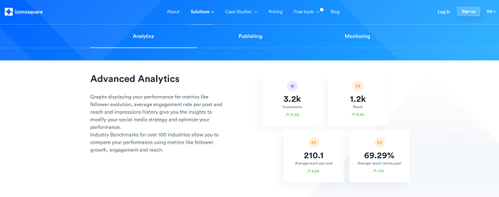 social media analytics tools - iconosquare