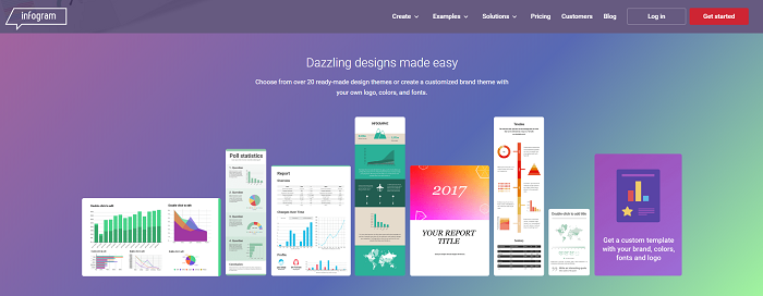 Infogram - infographic and report visualization tool