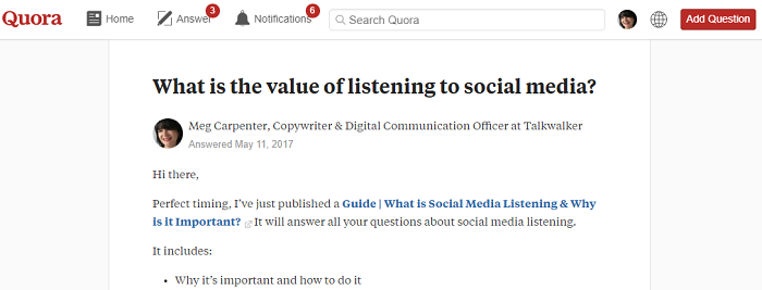 Quora - questions and answers