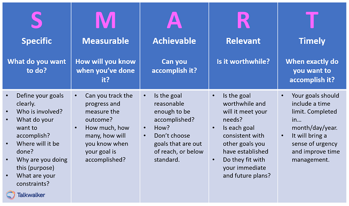 SMART goals for consumer behavior audit