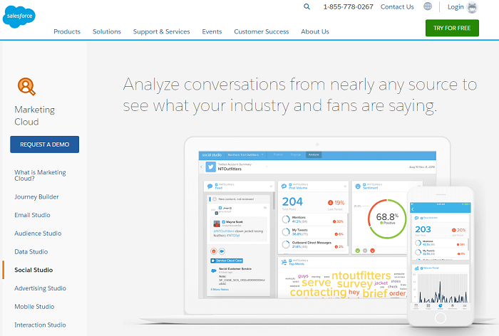 social media analytics tools - salesforce