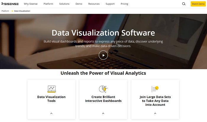 Sisense - business intelligence software solution
