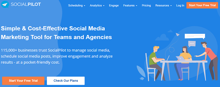 social media analytics tools - socialpilot