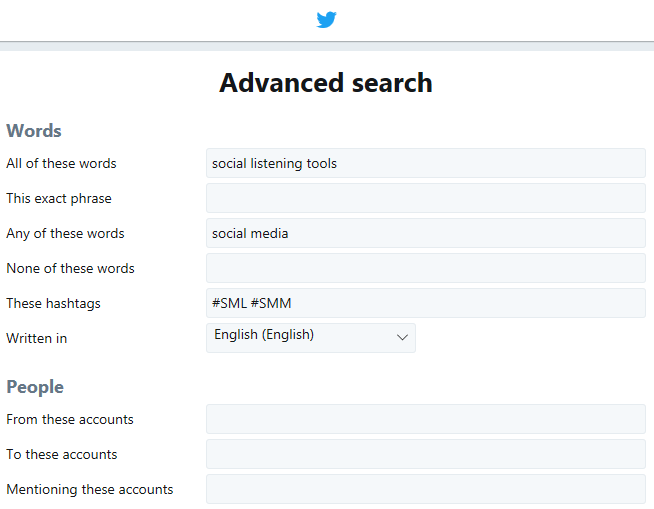 Twitter Advanced Search - fine-tune your queries