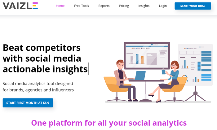 social media analytics tools - vaizle