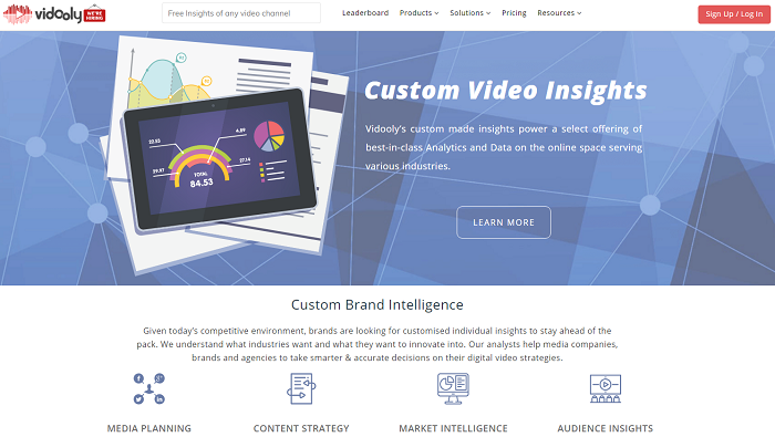 Vidooly - video analytics tool