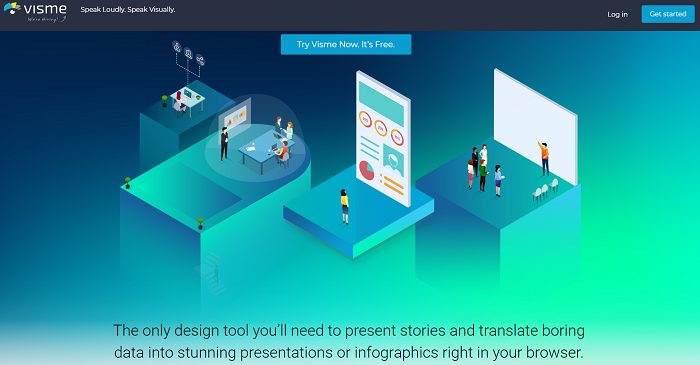 Visme - presentations and infographics
