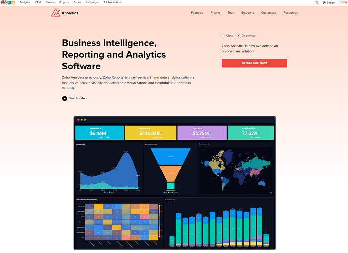Zoho Analytics - business intelligence reporting and analytics