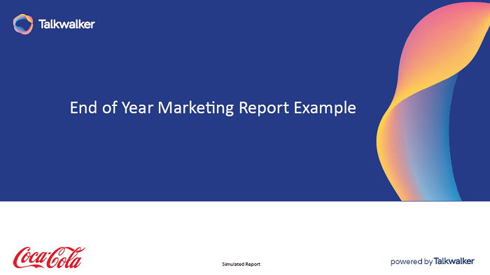 End of year marketing report - free simulated Talkwalker template