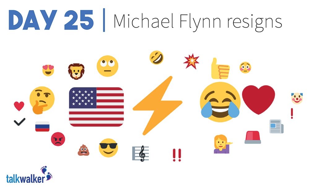 Infographic] The Emoji History of Trump's First 100 Days