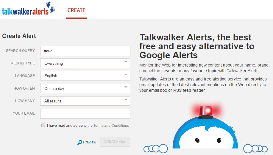 Talkwalker Alerts - social listening guide
