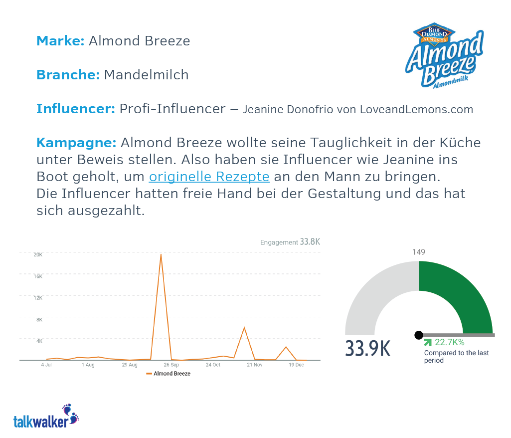 Fallbeispiel: Almond Breeze Influencer-Kampagne