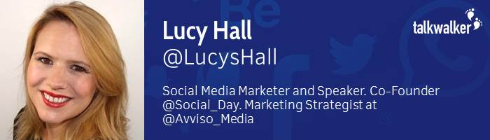 Lucy creating a social media strategy